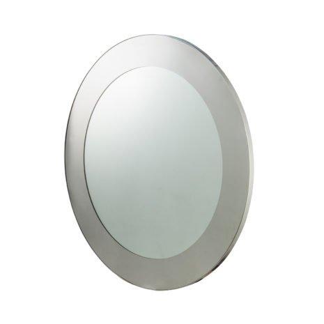 camden circular mirror steel